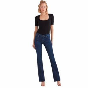 7 for all mankind long bootcut dark wash jeans